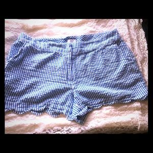 Crown & Ivy Shorts striped blue & white Nautical
